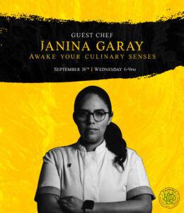 Guest Chef Janina Garay @ Tahona Bar